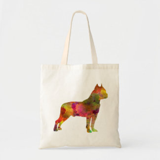 American Staffordshire Terrier in watercolor 2 Tote Bag