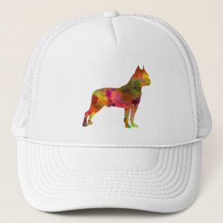 American Staffordshire Terrier in watercolor 2 Trucker Hat