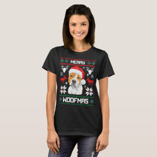 American Staffordshire Terrier Merry Woofmas Gift T-Shirt