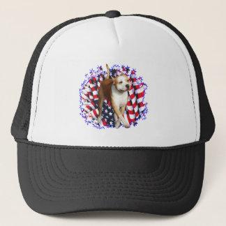 American Staffordshire Terrier Patriot Trucker Hat