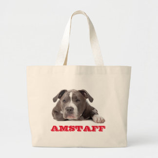 American Staffordshire Terrier Puppy Dog - Amstaff Large Tote Bag