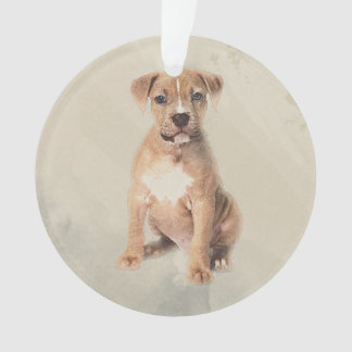 American staffordshire terrier puppy Sketch Paint Ornament