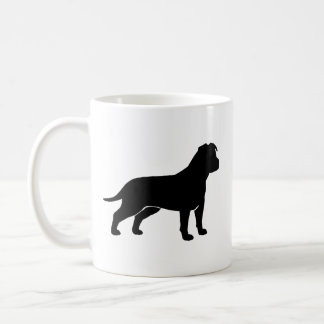 American Staffordshire Terrier Silhouettes Basic White Mug