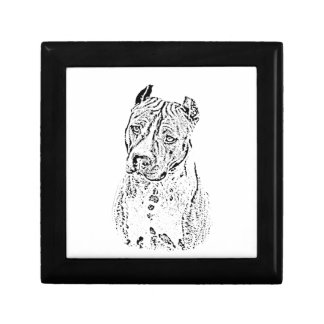 American Staffordshire Terrier Small Square Gift Box
