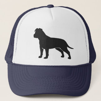 American Staffordshire Terrier with Floppy Ears Trucker Hat
