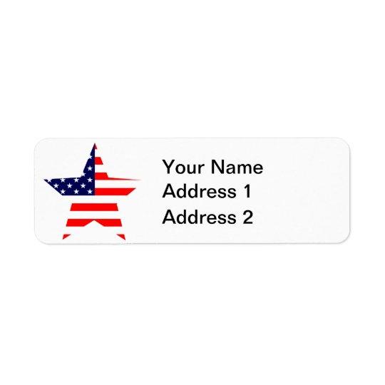 American Star Return Address Label
