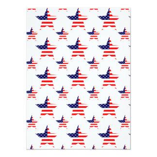 American Star Tiled Pattern 14 Cm X 19 Cm Invitation Card