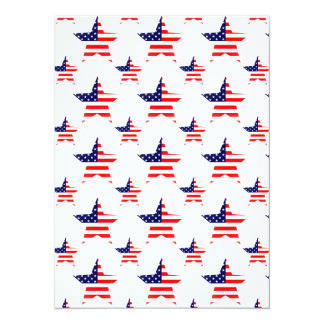 American Star Tiled Pattern Personalized Announcements