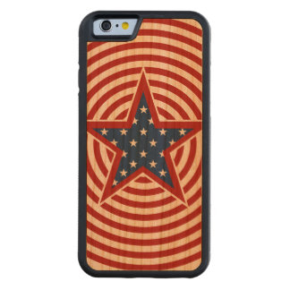 American Stars And Stripes Circles Star Carved Cherry iPhone 6 Bumper Case