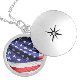 American stars and stripes US flag locket, gift