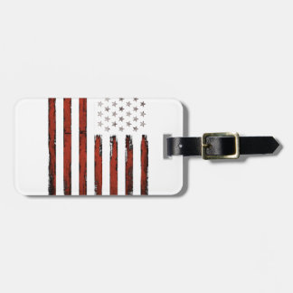 American Stars and stripes Vintage Luggage Tag