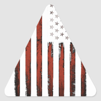 American Stars and stripes Vintage Triangle Sticker