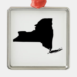 American State of New York Silver-Colored Square Decoration