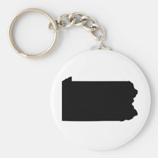 American State of Pennsylvania Basic Round Button Key Ring