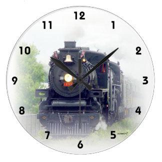 American Steam Train Clock