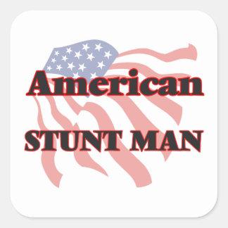 American Stunt Man Square Sticker