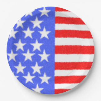American style-ART fabric 9 Inch Paper Plate