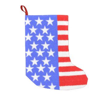 American style-ART fabric Small Christmas Stocking