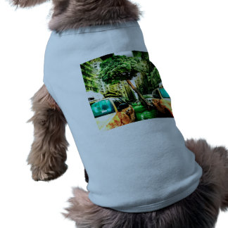 American Style with Taxi Sleeveless Dog Shirt