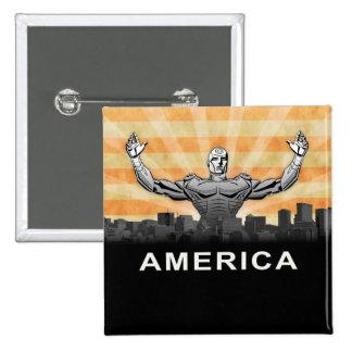American Super Hero Pin