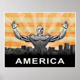 American Super Hero Print