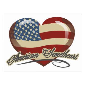 American Sweetheart Heart Postcard