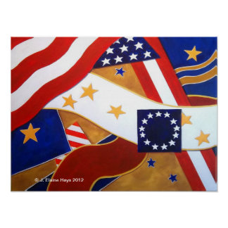 American Symbols Stars & Stripes Poster