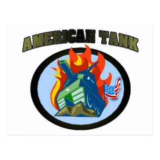 American Tank Postcard