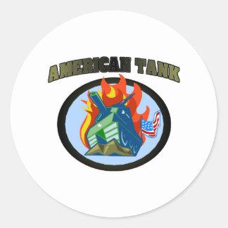 American Tank Round Sticker