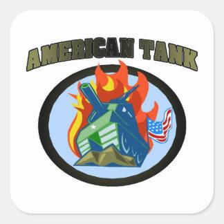 American Tank Sticker