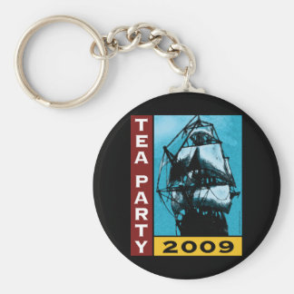 American TEA Party 2009 Basic Round Button Key Ring