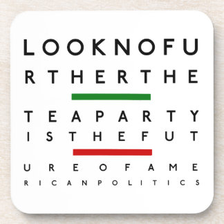 American Tea Party Eye Chart Beverage Coaster
