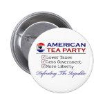 American Tea Party Pin