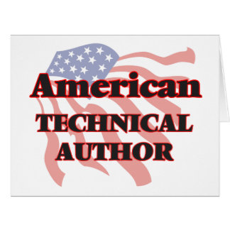 American Technical Author Big Greeting Card