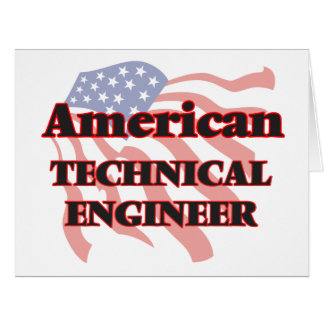American Technical Engineer Big Greeting Card