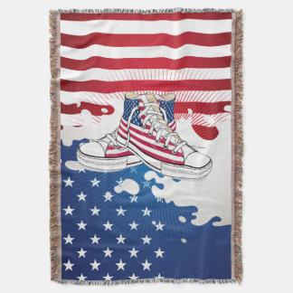 American Teens Patriotic Throw Blanket