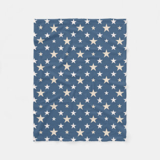 American themed stars fleece blanket