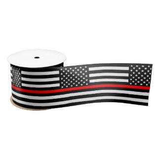 American Thin Red Line Decor Satin Ribbon