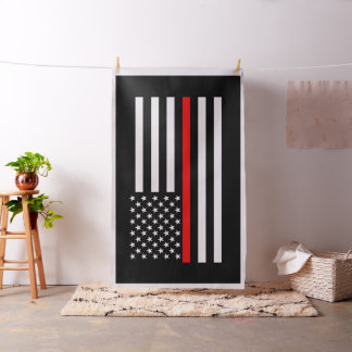 American Thin Red Line Graphic Decor Fabric