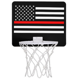 American Thin Red Line Graphic Decor Mini Basketball Hoop