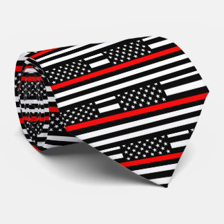 American Thin Red Line Graphic Decor on a Tie