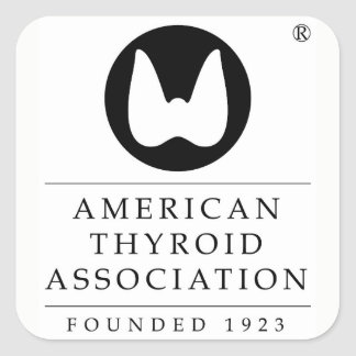 American Thyroid Association Square Sticker