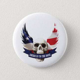American to the Bone Skull 6 Cm Round Badge