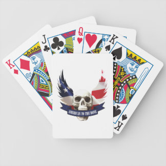 American to the Bone Skull Bicycle Playing Cards