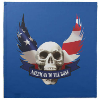 American to the Bone Skull Napkin