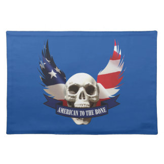 American to the Bone Skull Placemat