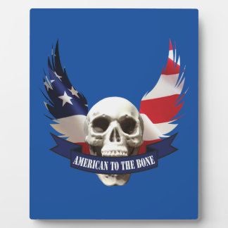American to the Bone Skull Plaque