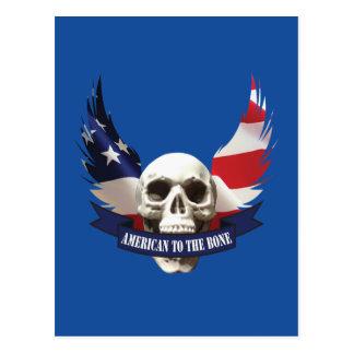 American to the Bone Skull Postcard