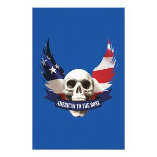 American to the Bone Skull Stationery