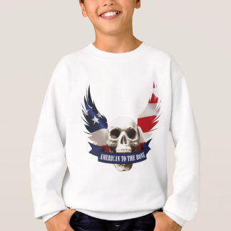 American to the Bone Skull Sweatshirt